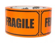 Varningstejp fragile 50mm