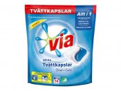 Tvättkapslar VIA White Clean+Care 14/FP